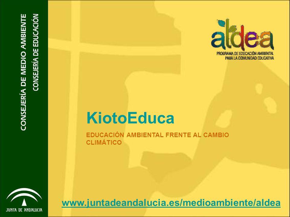 KiotoEduca EDUCACIÓN AMBIENTAL FRENTE AL CAMBIO CLIMÁTICO www.juntadeandalucia.es/medioambiente/aldea