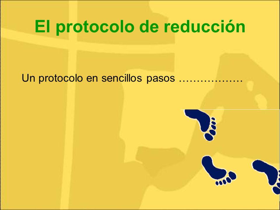 El protocolo de reducción Un protocolo en sencillos pasos ………………