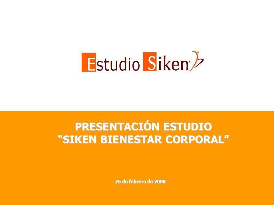 PRESENTACIÓN ESTUDIO SIKEN BIENESTAR CORPORAL 26 de febrero de 2008