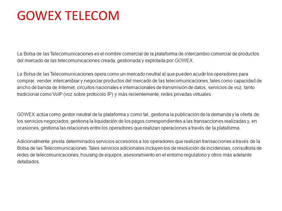La Bolsa de las Telecomunicaciones es el nombre comercial de la plataforma de intercambio comercial de productos del mercado de las telecomunicaciones
