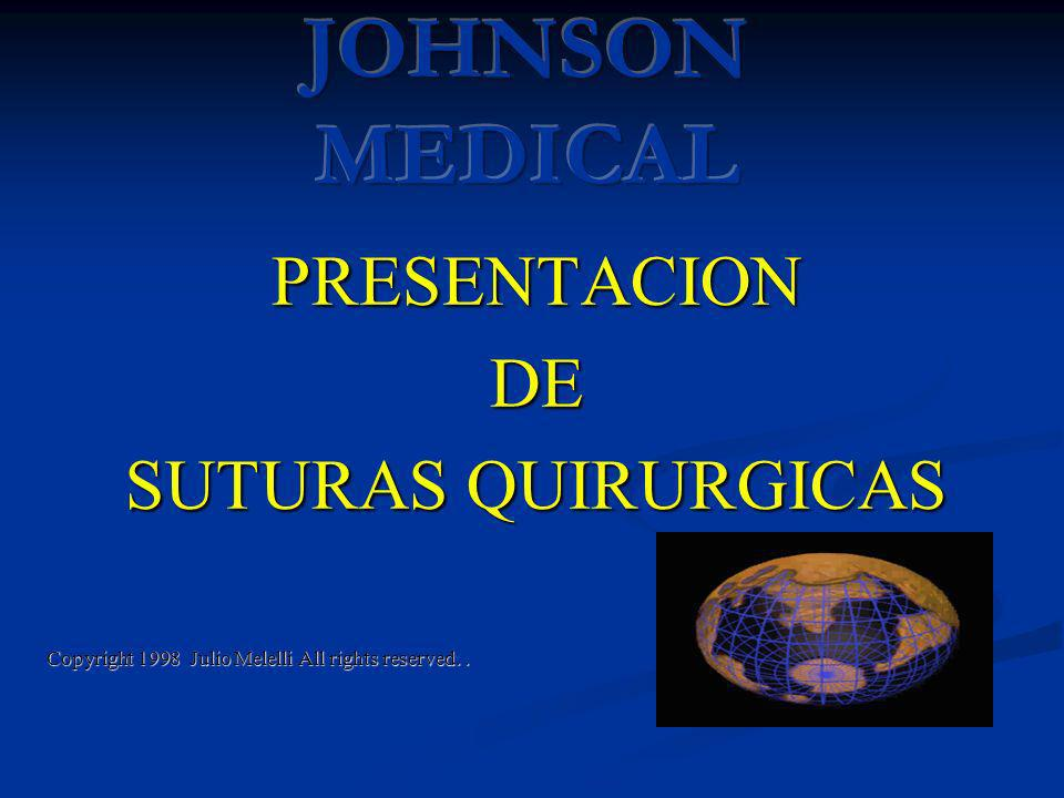 PRESENTACIONDE SUTURAS QUIRURGICAS Copyright 1998 Julio Melelli All rights reserved..
