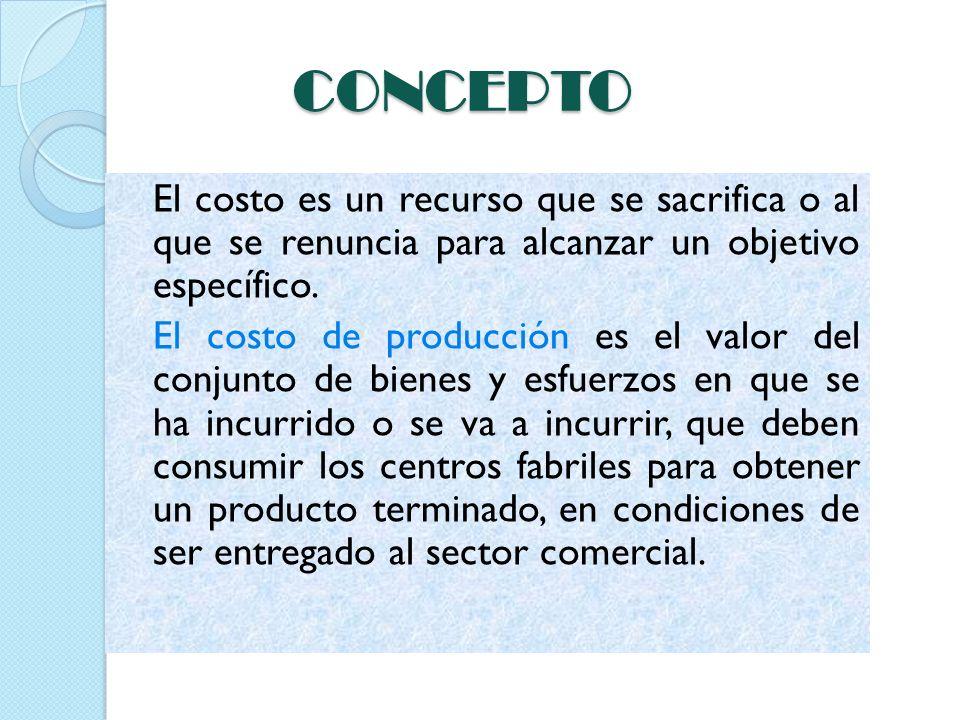 COSTO DEFINICIÓN CONTABLE Definición contable: Por definición, los costos representan erogaciones y cargos asociados clara y directamente con la adquisición o la producción de los bienes o la prestación de los servicios de los cuales un ente económico obtiene sus ingresos.