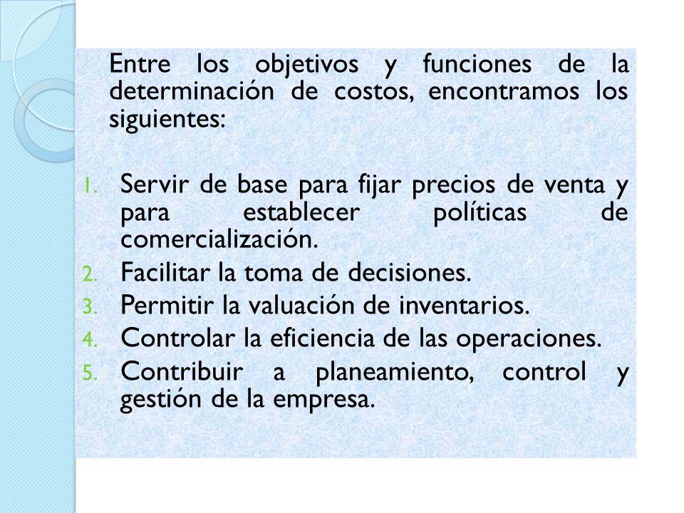 CLASIFICACIÓN DE LOS COSTOS 1)Según la forma de imputación a las unidades de producto: Costos directos y costos indirectos.