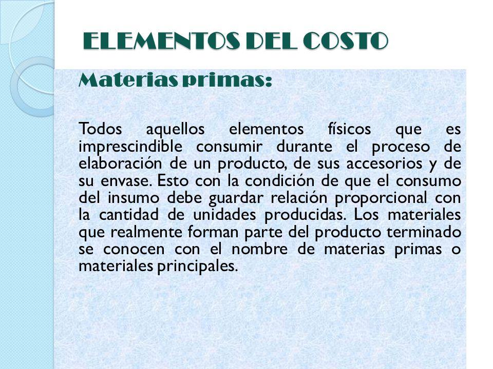 MANO DE OBRA La mano de obra de producción se utiliza para convertir las materias primas en productos terminados.
