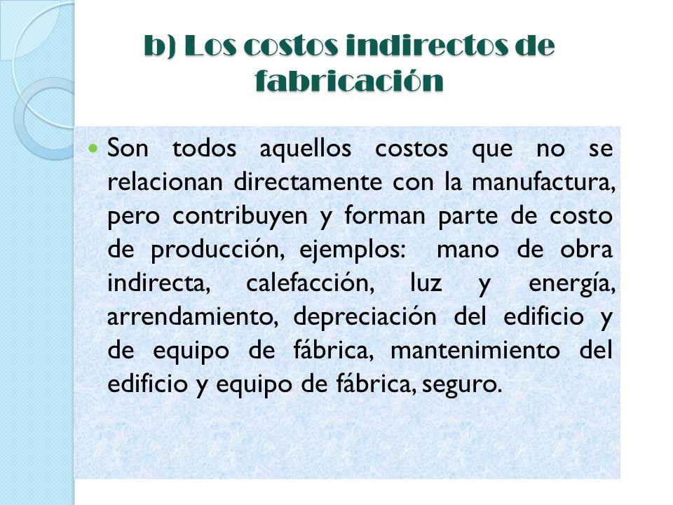 Los costos indirectos de fabricación puede subdividirse según el objeto de gasto en tres categorías: materiales indirectos mano de obra indirecta costos indirectos generales de fabricación.