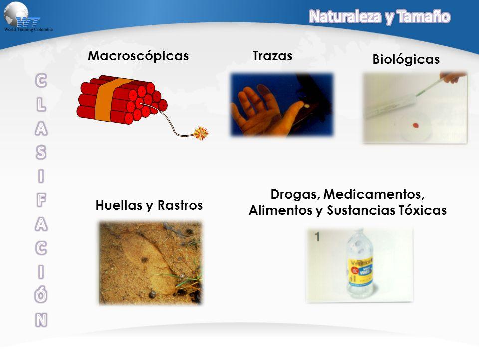 TrazasMacroscópicas Biológicas Huellas y Rastros Drogas, Medicamentos, Alimentos y Sustancias Tóxicas