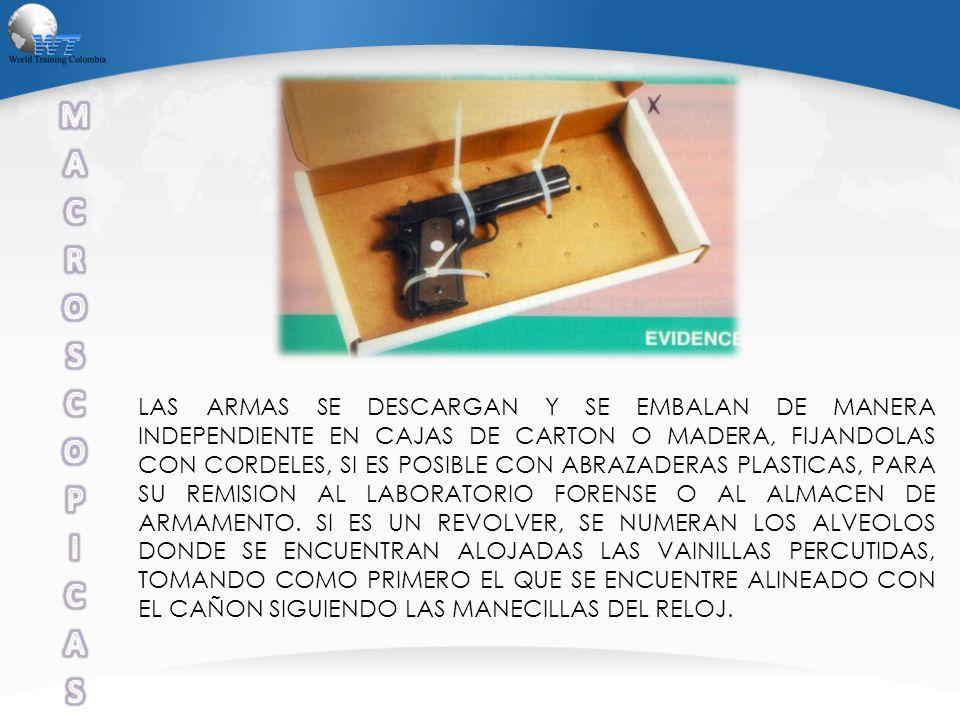 PRENDAS, OBJETOS PERSONALES, VEHICULOS, FRAGMENTOS DE VIDRIO, SOGAS CUERDAS, JERINGAS Y FIBRAS SINTETICAS LOS PELOS Y MATERIAL FIBROSO RECOLECTADOS COMO EMP SE ENVIAN AL LABORATORIO PARA ANALISIS PILOSCOPICO Y DE FIBRAS EN EL ESTADO EN QUE FUERON ENCONTRADOS.