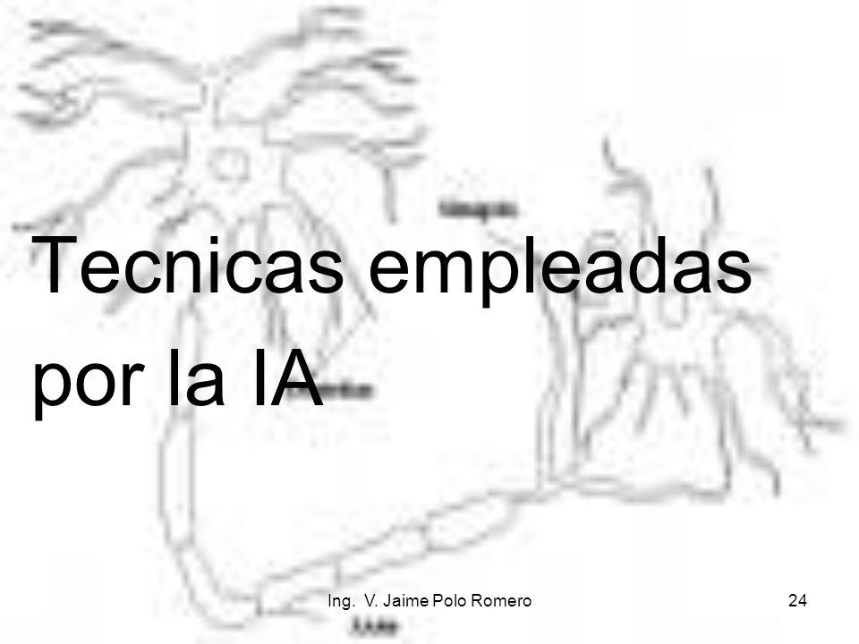 Ing. V. Jaime Polo Romero24 Tecnicas empleadas por la IA