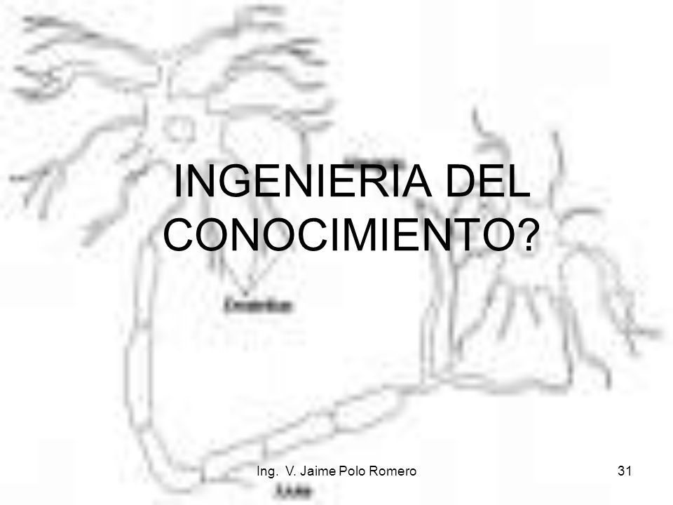 Ing. V. Jaime Polo Romero31 INGENIERIA DEL CONOCIMIENTO?