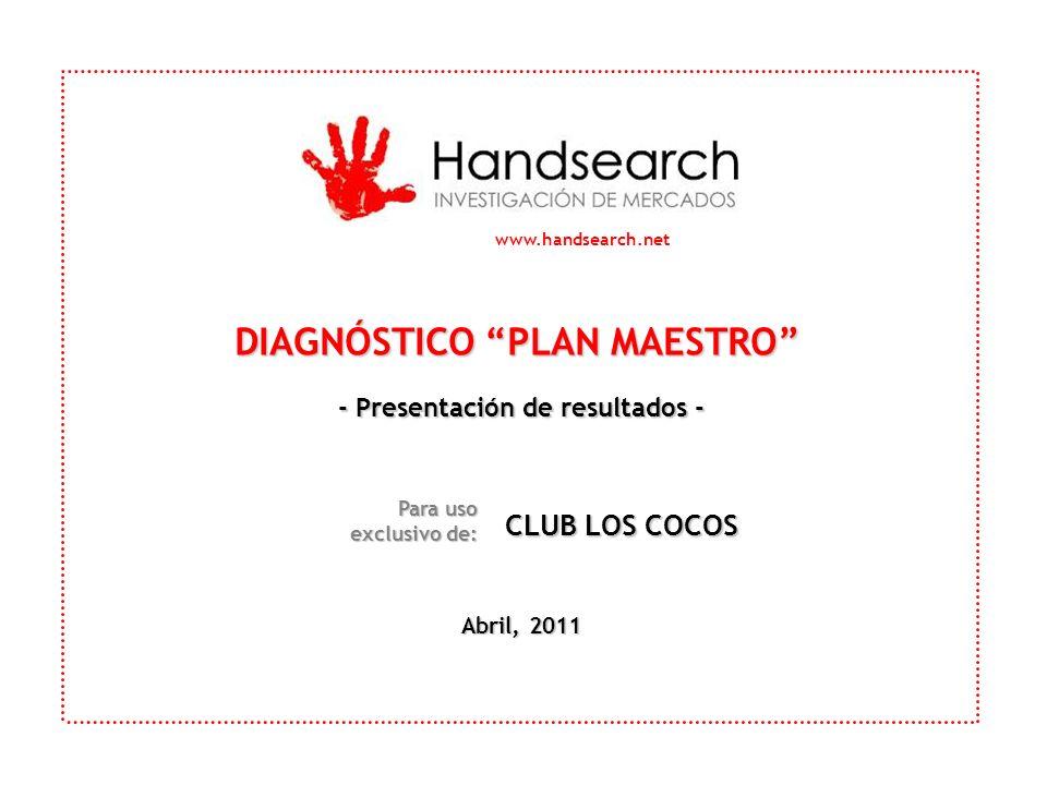 www.handsearch.net DIAGNÓSTICO PLAN MAESTRO - Presentación de resultados - Abril, 2011 Para uso exclusivo de: CLUB LOS COCOS