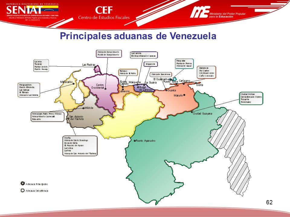 62 Principales aduanas de Venezuela