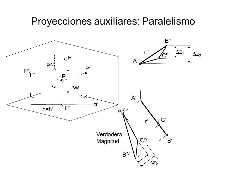 Completar la proyección auxiliar de la recta AB en Sistema diédrico SR_10P_01 Proyecciones auxiliares Figura de análisis A A A IV B