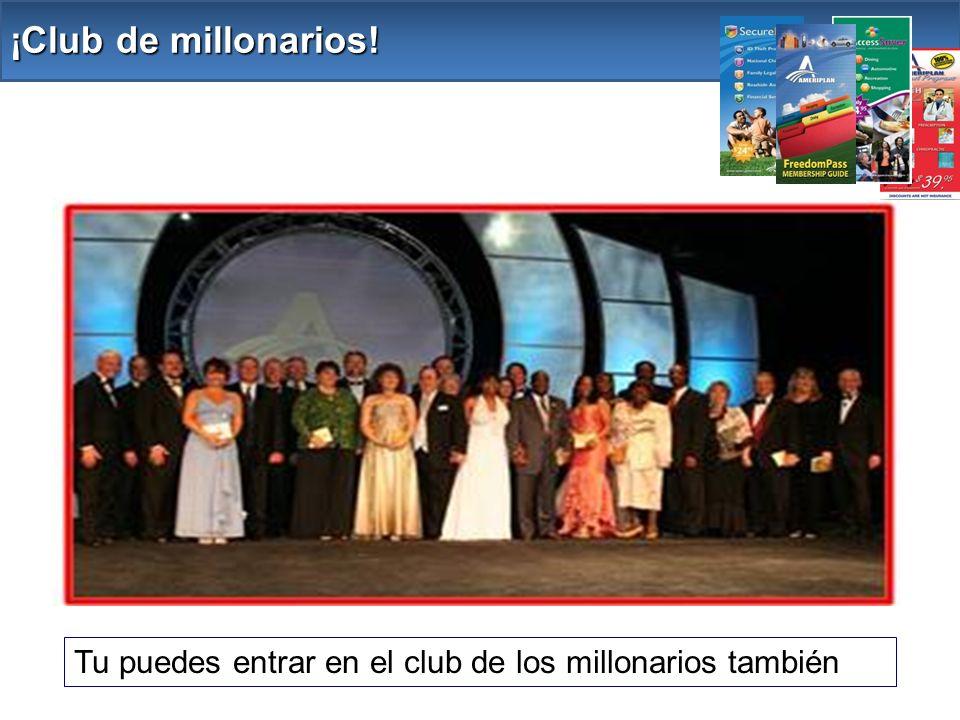 Tu puedes entrar en el club de los millonarios también ¡Club de millonarios!
