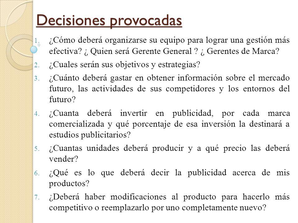 Enfoque Gerencial 1.Muy fuerte revisión y análisis: para tomar decisiones debe revisarse la historia de la empresa y hasta 15 estudios de investigació