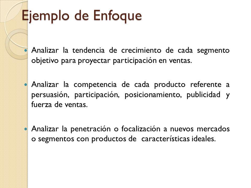 Ejemplo de Enfoque Multi-segmento a Markestrat La calidad de las decisiones se basa en la información obtenida de los estudios de mercado, por lo que