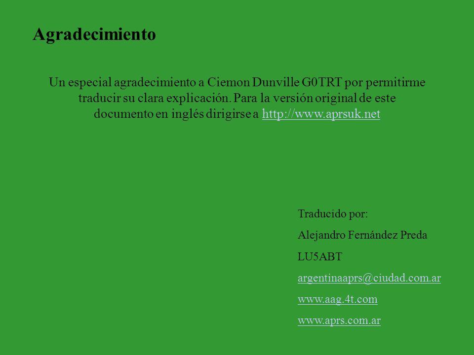 Un especial agradecimiento a Ciemon Dunville G0TRT por permitirme traducir su clara explicación. Para la versión original de este documento en inglés