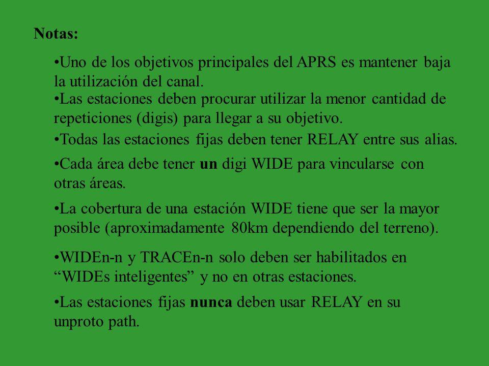 WIDEn-n y TRACEn-n Probablemente se haya dado cuenta de que paths como : APRS,WIDE,WIDE,WIDE pueden causar problemas de repetición múltiple o ping pong: