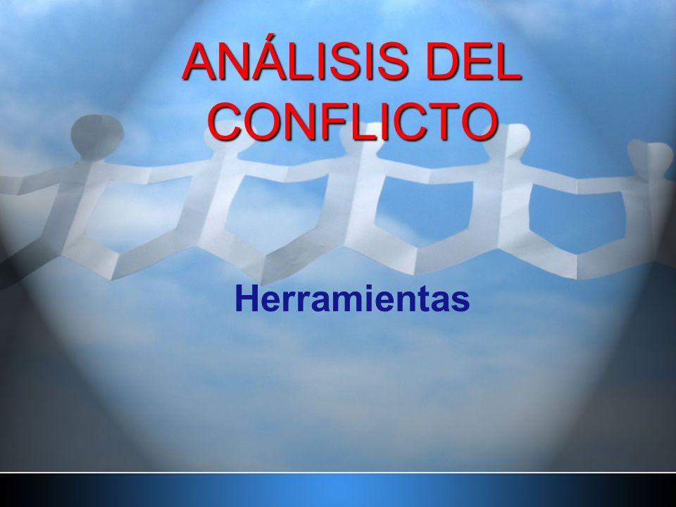 ANÁLISIS DEL CONFLICTO Herramientas