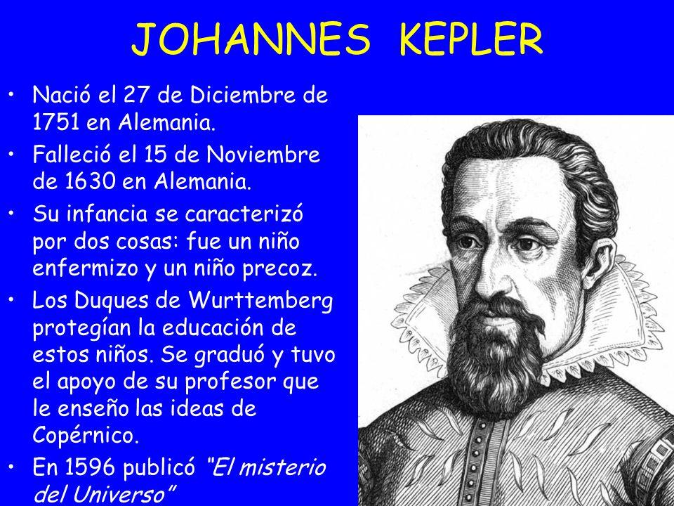 Nació el 27 de Diciembre de 1751 en Alemania. Falleció el 15 de Noviembre de 1630 en Alemania. Su infancia se caracterizó por dos cosas: fue un niño e