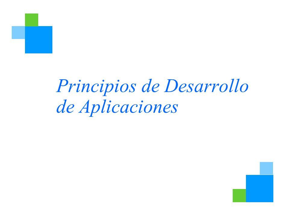Principios de Desarrollo de Aplicaciones