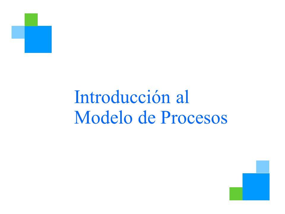 Introducción al Modelo de Procesos