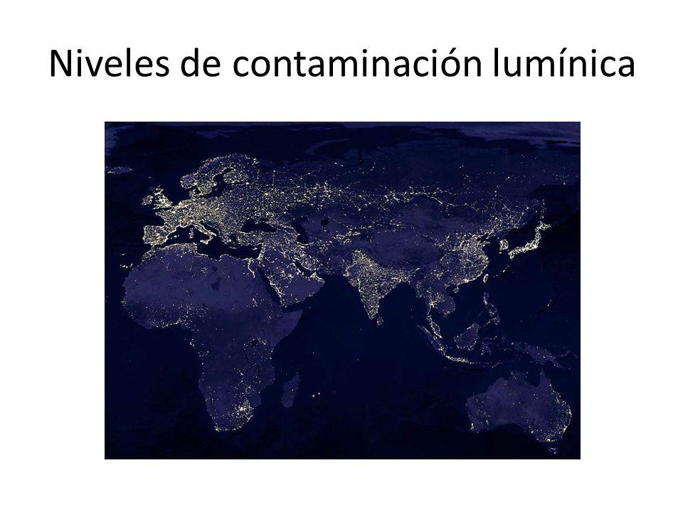 Niveles de contaminación lumínica