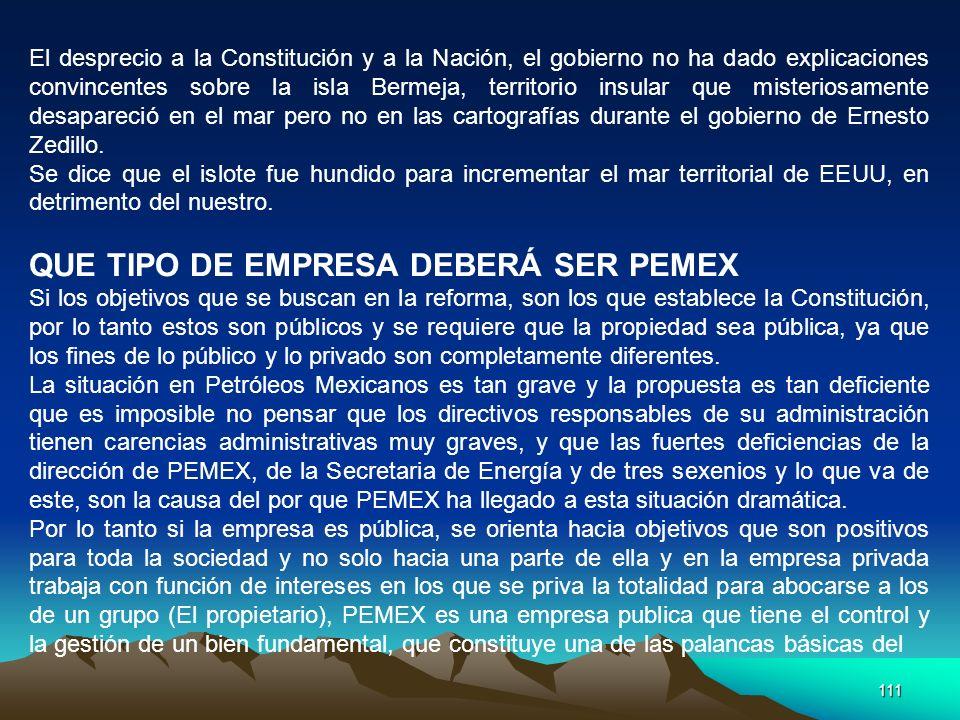 111 El desprecio a la Constitución y a la Nación, el gobierno no ha dado explicaciones convincentes sobre la isla Bermeja, territorio insular que mist