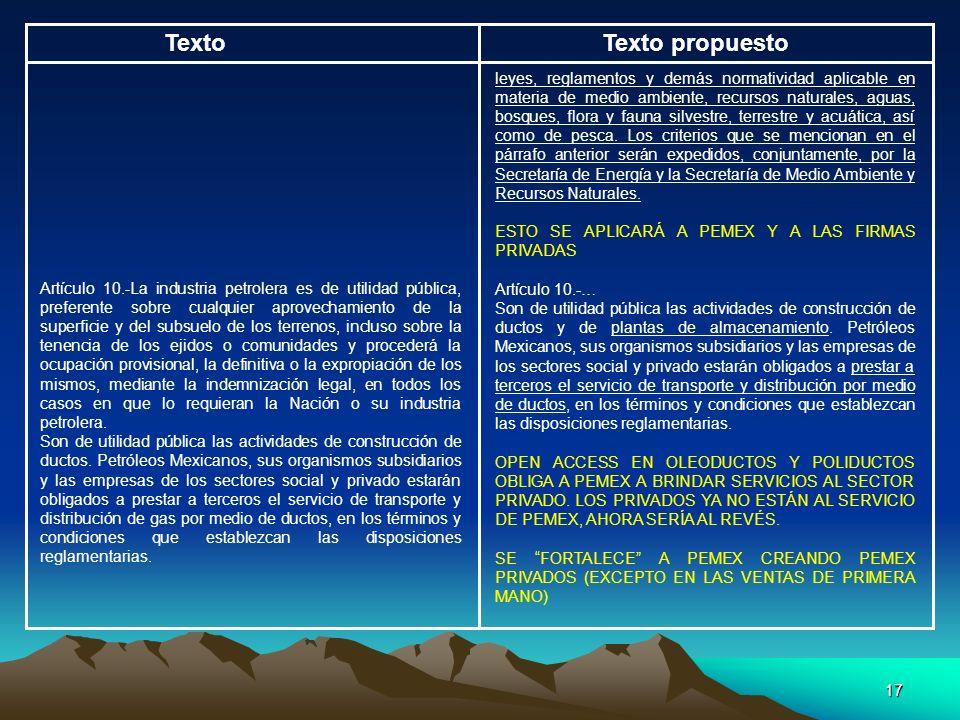 17 TextoTexto propuesto leyes, reglamentos y demás normatividad aplicable en materia de medio ambiente, recursos naturales, aguas, bosques, flora y fa