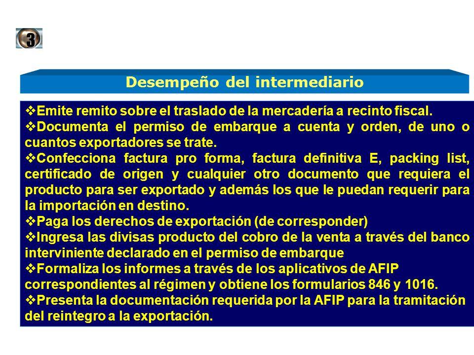 Emite remito sobre el traslado de la mercadería a recinto fiscal. Documenta el permiso de embarque a cuenta y orden, de uno o cuantos exportadores se