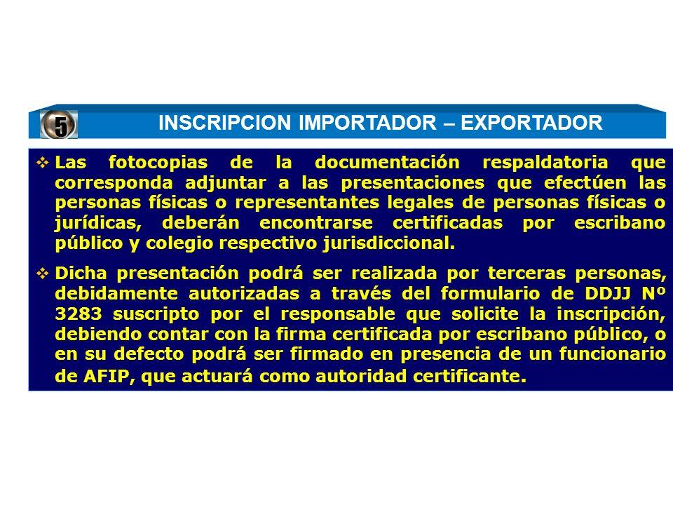 Las fotocopias de la documentación respaldatoria que corresponda adjuntar a las presentaciones que efectúen las personas físicas o representantes lega