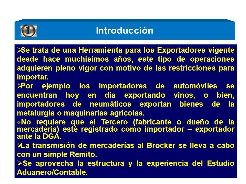 Introducción Se trata de una Herramienta para los Exportadores vigente desde hace muchísimos años, este tipo de operaciones adquieren pleno vigor con