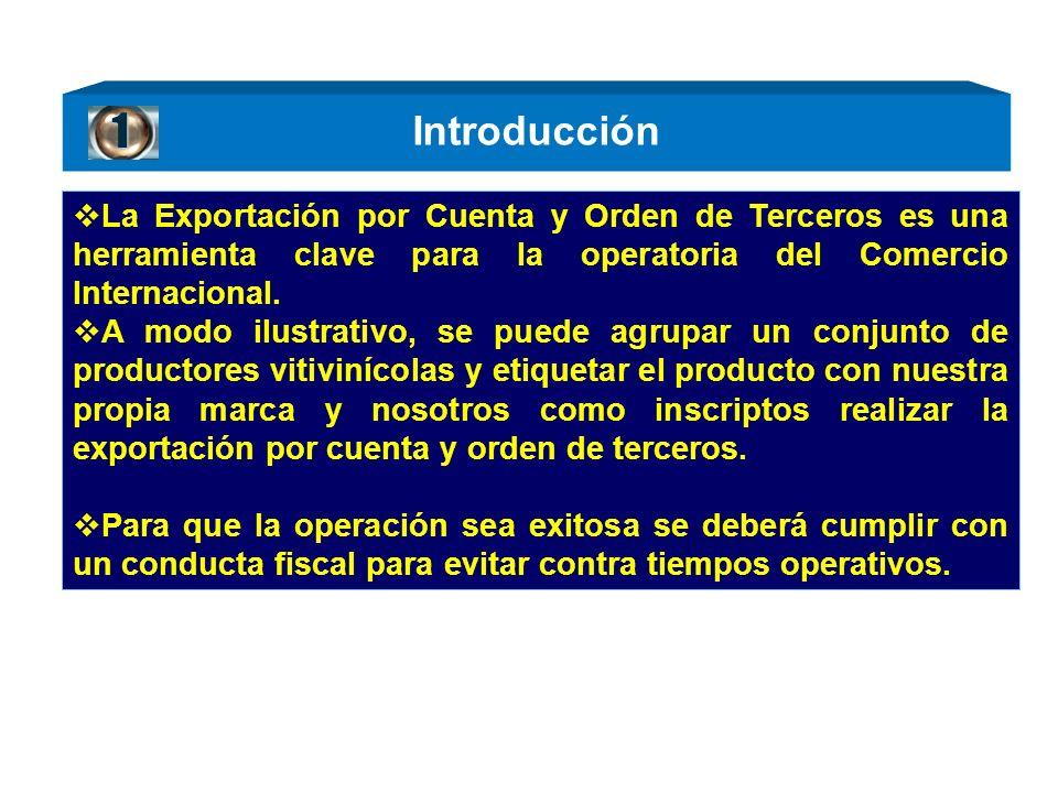 Introducción La Exportación por Cuenta y Orden de Terceros es una herramienta clave para la operatoria del Comercio Internacional. A modo ilustrativo,