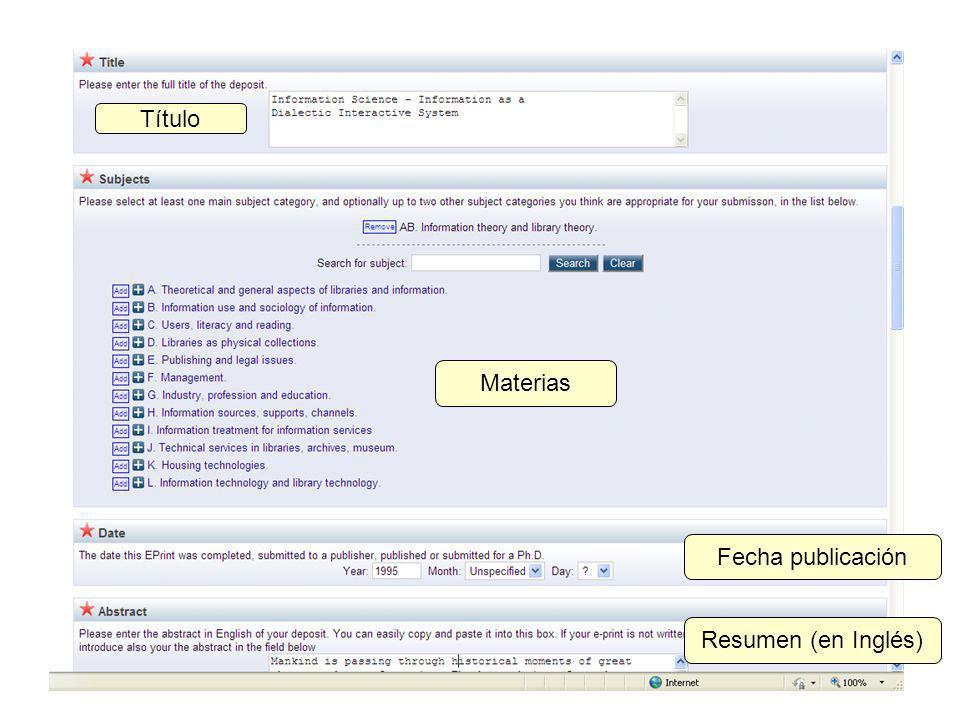 Materias Título Fecha publicación Resumen (en Inglés)