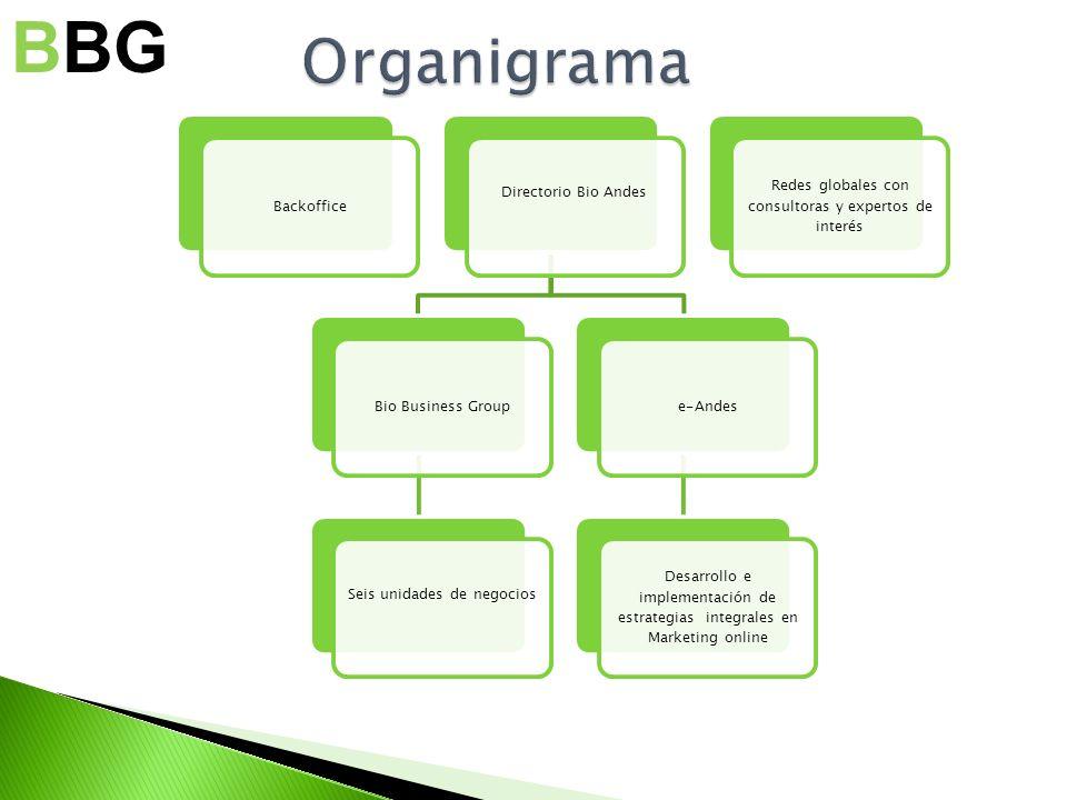 Backoffice Directorio Bio Andes Bio Business Group Seis unidades de negocios e-Andes Desarrollo e implementación de estrategias integrales en Marketin