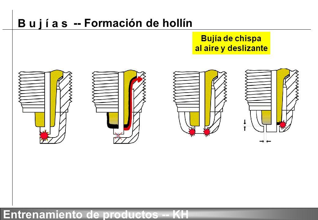 B u j í a s Entrenamiento de productos -- KH -- Mala instalación (Ruptura de la ceramica)