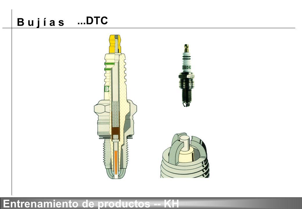 B u j í a s Entrenamiento de productos -- KH Técnica de chispa deslizante al aire con 4 electrodos finos de masa Almacenaje económico, alta rotación F