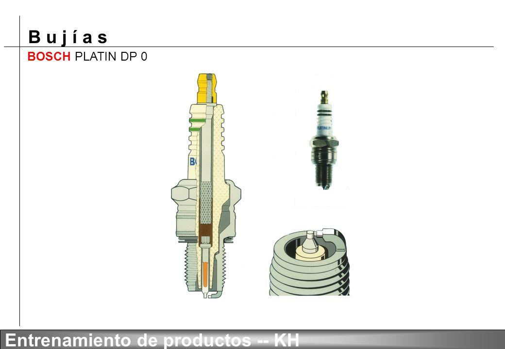 B u j í a s Entrenamiento de productos -- KH Chispas deslizantes, 4 electrodos de masa BOSCH SUPER FGR 6 HQE0 Para motores de inyección directa de gas