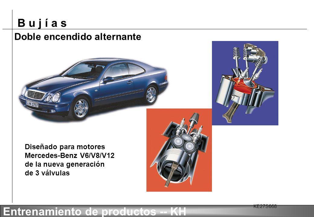 B u j í a s Entrenamiento de productos -- KH Doble encendido alternante Nueva bujía Bosch Platino para Mercedes-Benz: F8 DPER