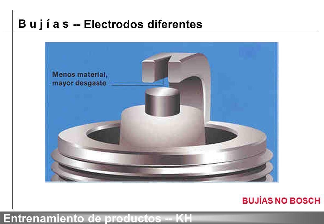 B u j í a s Entrenamiento de productos -- KH BUJÍAS NO BOSCH -- Electrodos diferentes