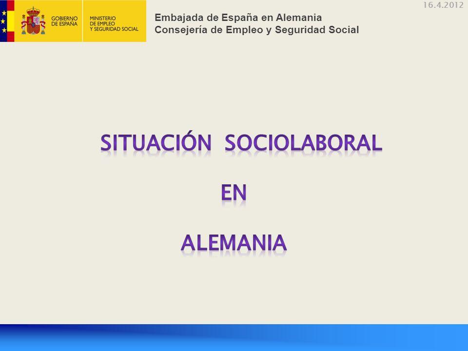 16.4.2012 Embajada de España en Alemania Consejería de Empleo y Seguridad Social