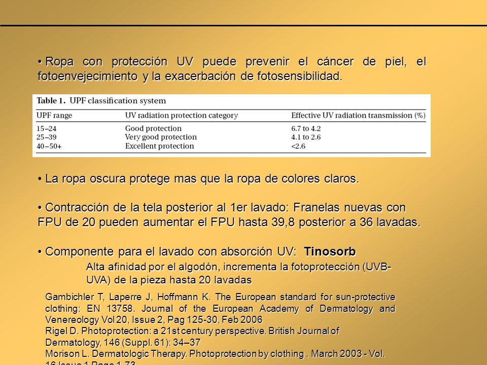 Ropa con protección UV puede prevenir el cáncer de piel, el fotoenvejecimiento y la exacerbación de fotosensibilidad. Ropa con protección UV puede pre