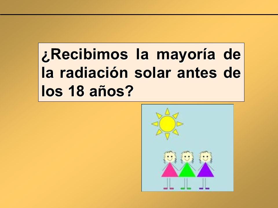 ¿Recibimos la mayoría de la radiación solar antes de los 18 años?