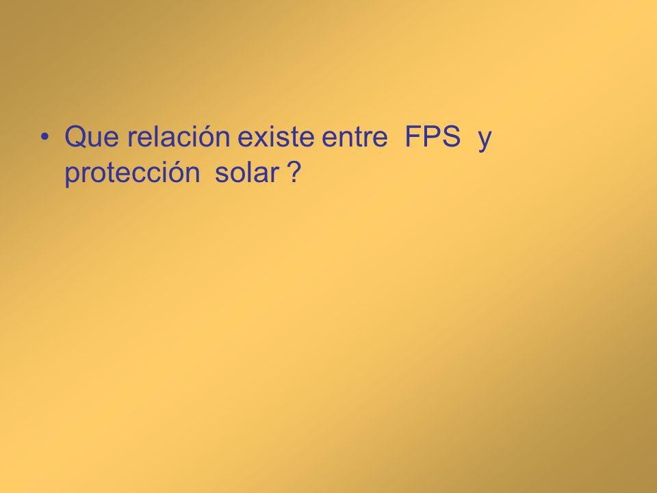 Que relación existe entre FPS y protección solar ?