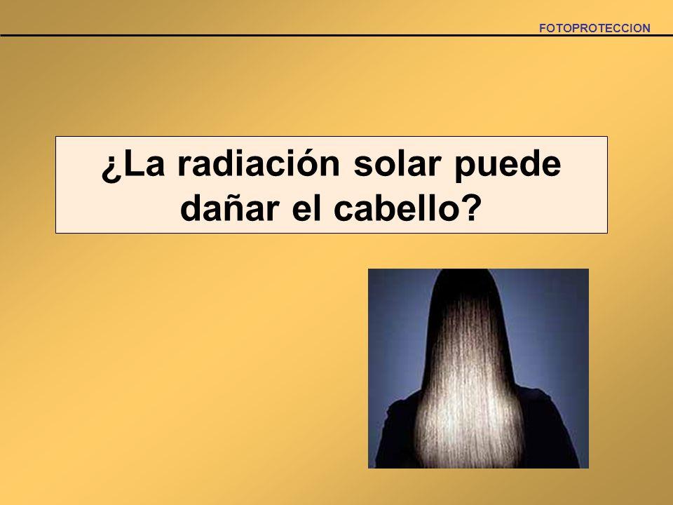 ¿La radiación solar puede dañar el cabello?