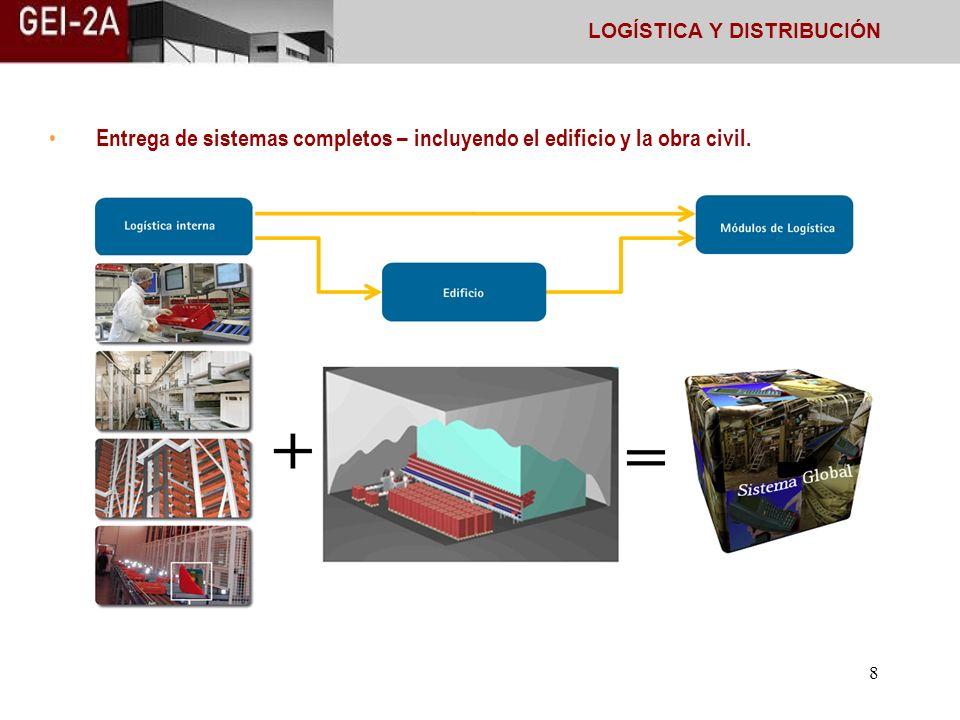 7 Le podemos ofrecer módulos llave en mano de la logística interna Sistemas completos o módulos individuales para el almacenamiento y la preparación d