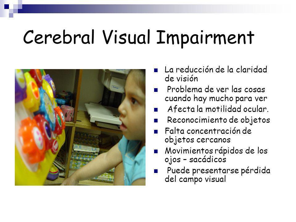 SIGNOS DE DEFICIT VISUAL SI un Niño tiene una hipo respuesta al Sistema Visual se pueden observar las siguientes conductas: Q Deficiente Enfoque Q Ojos Torpes y Lentos Q Deficiente Conciencia de los objetos del medio ambiente.