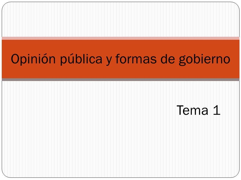 1.1.Definición de opinión pública. 1.2.Opinión pública agregada y opinión pública discursiva.