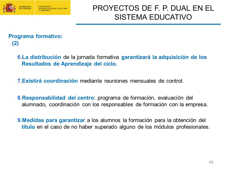 CONTRATO FORMACIÓN Y APRENDIZAJE Y FORMACIÓN PROFESIONAL DUAL 43 6.La distribución de la jornada formativa garantizará la adquisición de los Resultado