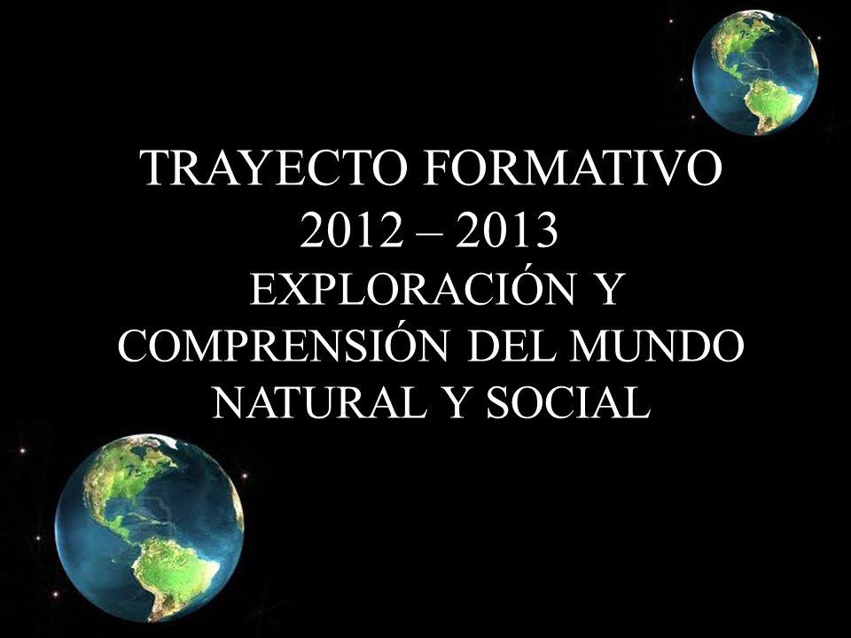 TRAYECTO FORMATIVO 2012 – 2013 EXPLORACIÓN Y COMPRENSIÓN DEL MUNDO NATURAL Y SOCIAL