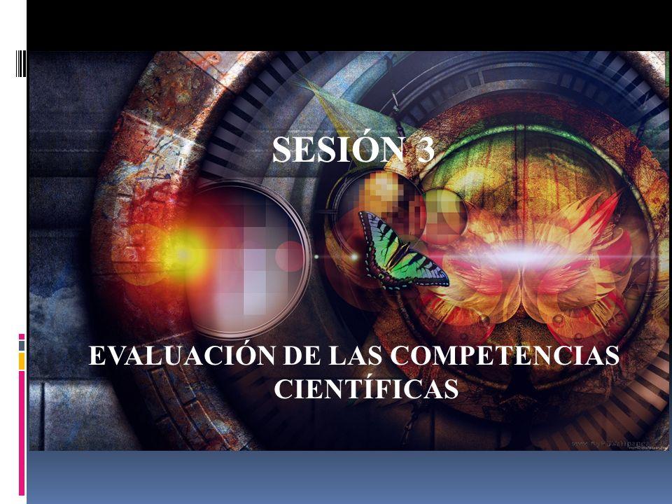 SESIÓN 3 EVALUACIÓN DE LAS COMPETENCIAS CIENTÍFICAS